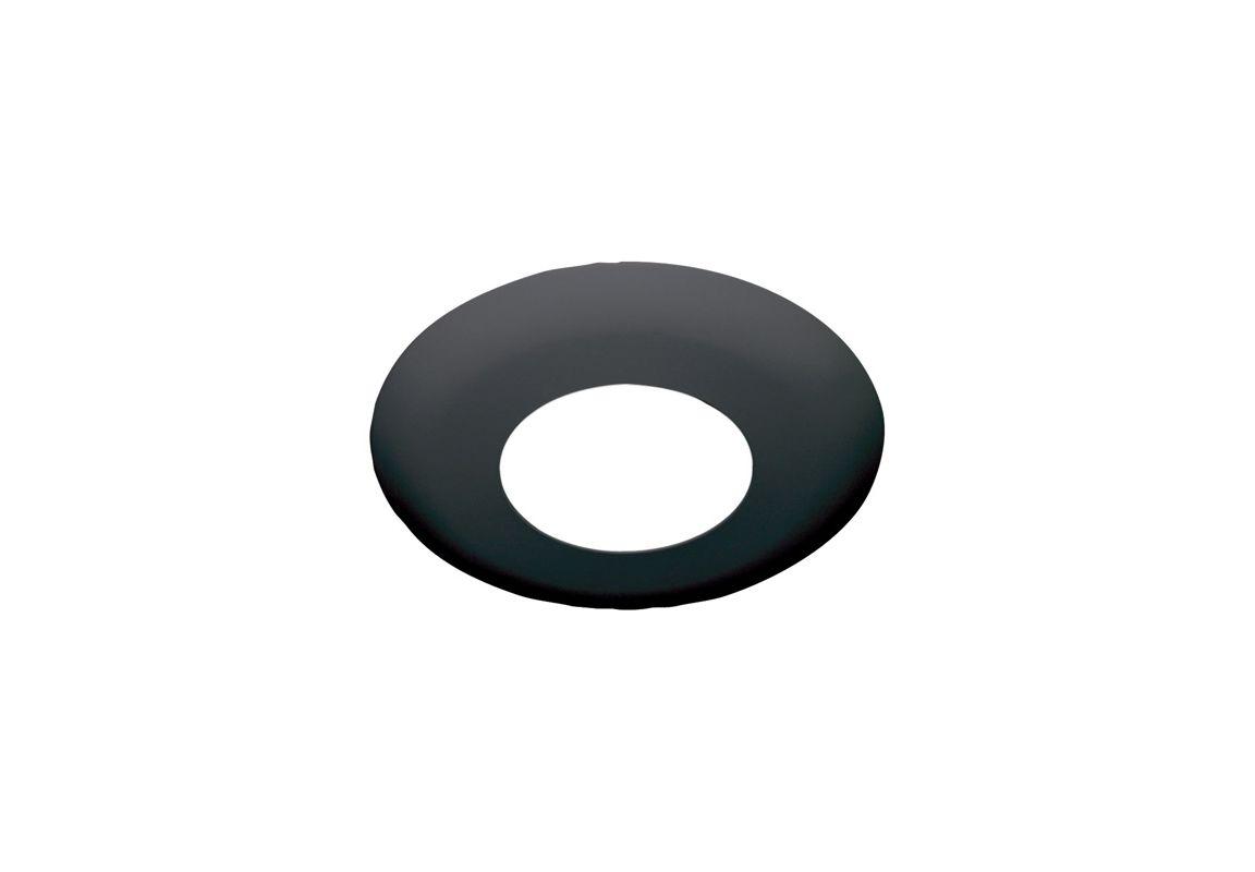 "Elco EL2512 6"" Low-Voltage Shower Trim with Diffused Lens Black"