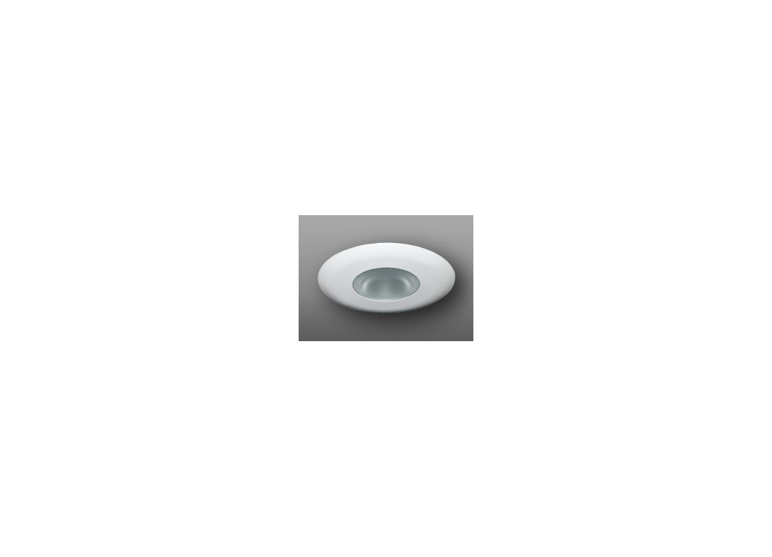 "Elco EL2512 6"" Low-Voltage Shower Trim with Diffused Lens White"