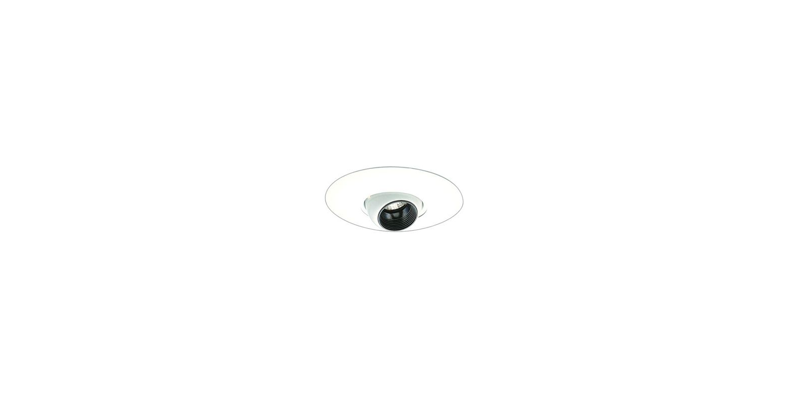 "Elco EL2517 6"" Low-Voltage Eyeball Trim Black / White Recessed Lights"