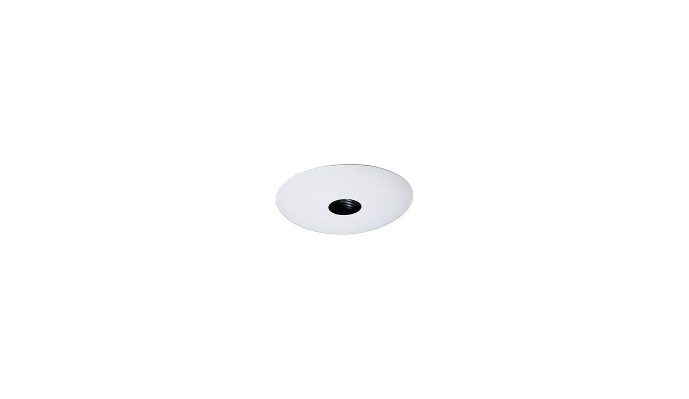 "Elco EL2529 6"" Low-Voltage Adjustable Pinhole Reflector Black / White"