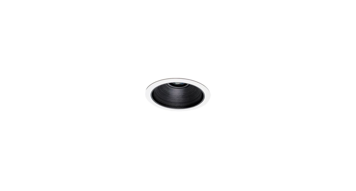 "Elco EL2530 6"" HID Adjustable Baffle Trim Black / White Recessed"