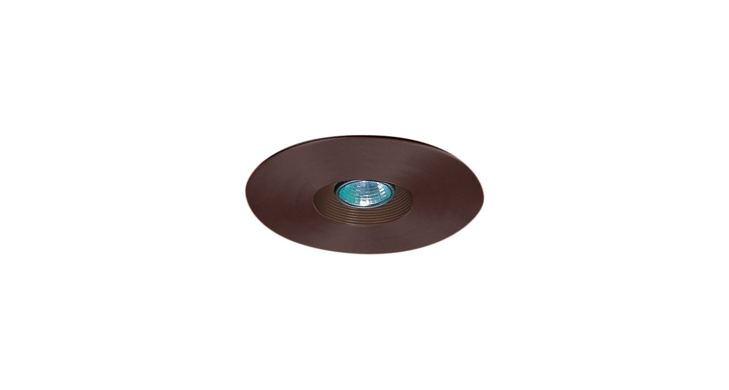 "Elco EL2533 6"" Low-Voltage Adjustable Baffle Trim Bronze Recessed"