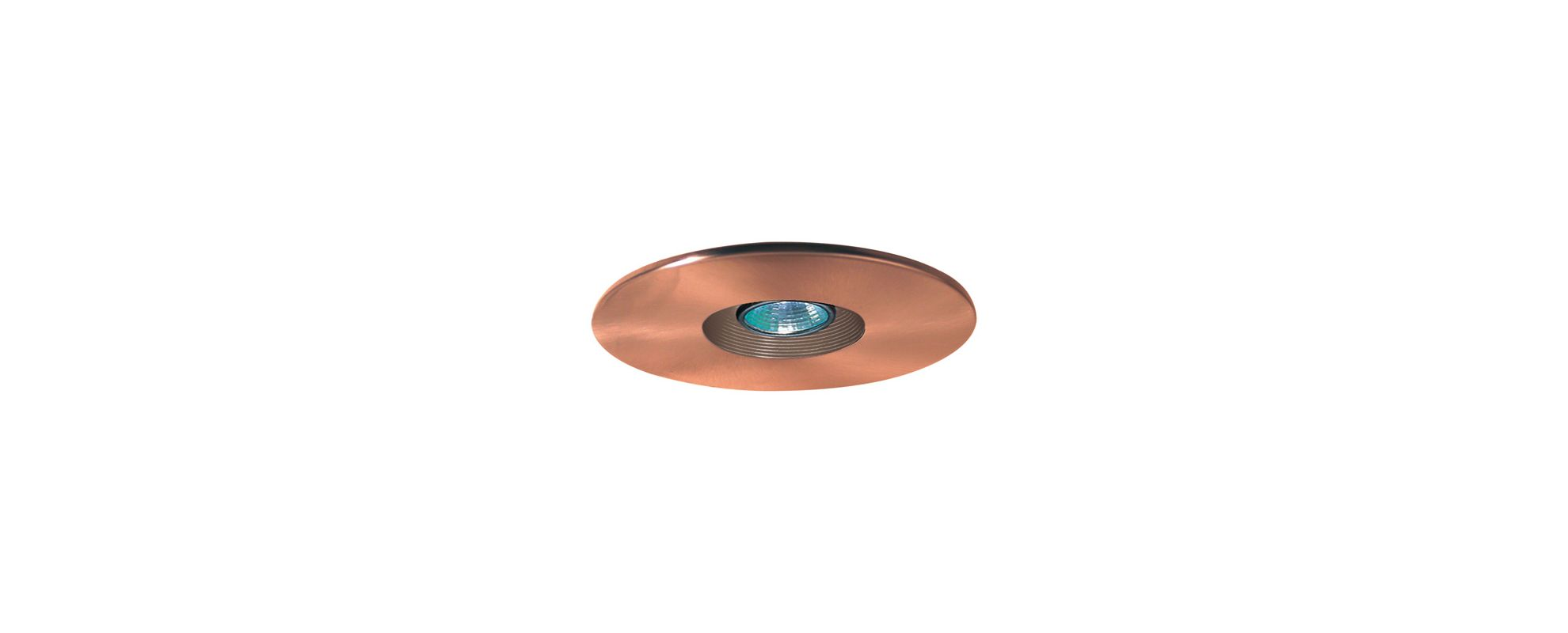 "Elco EL2533 6"" Low-Voltage Adjustable Baffle Trim Copper Recessed"