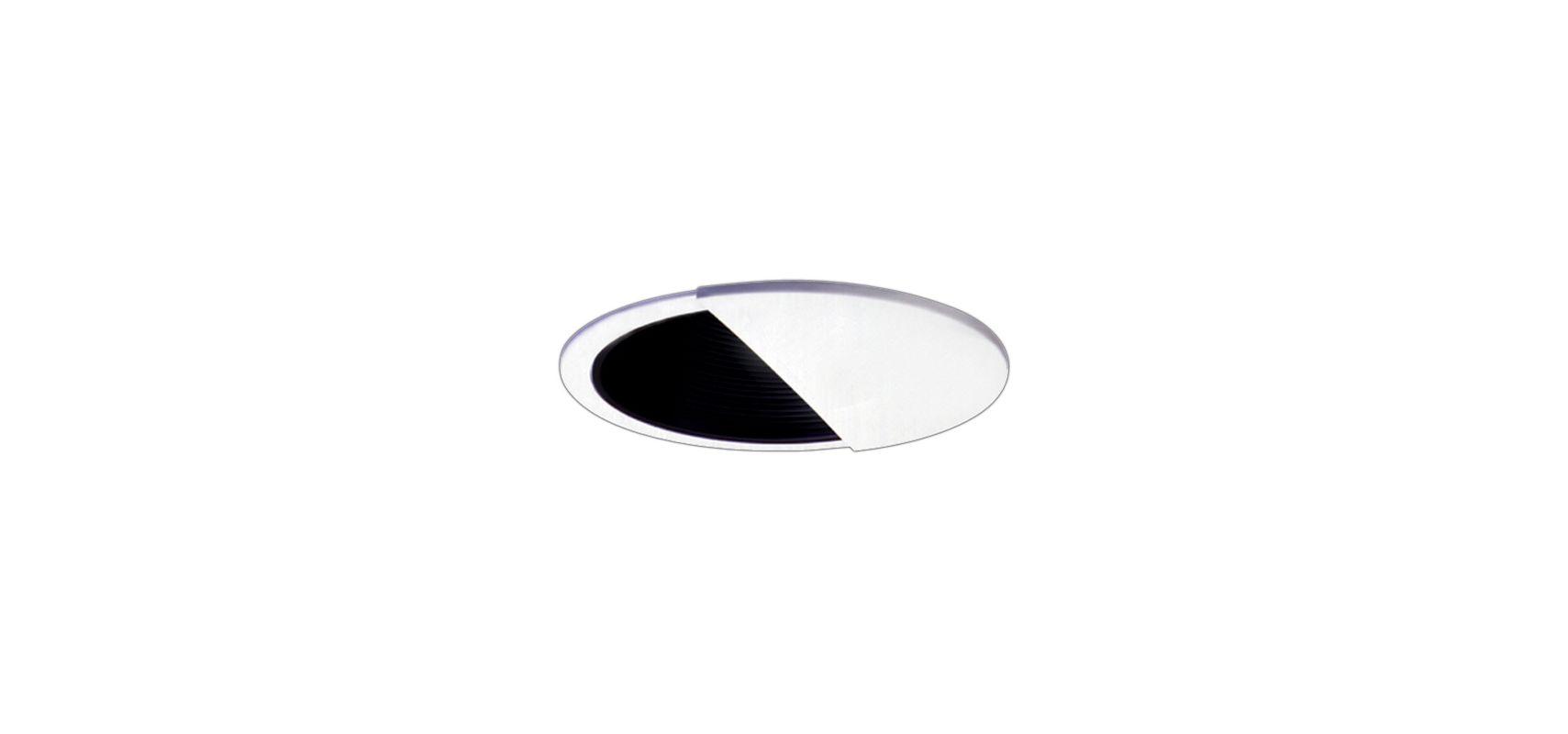 """Elco EL2545 6"""" Low-Voltage Adjustable Wall Wash with Baffle Black /"""