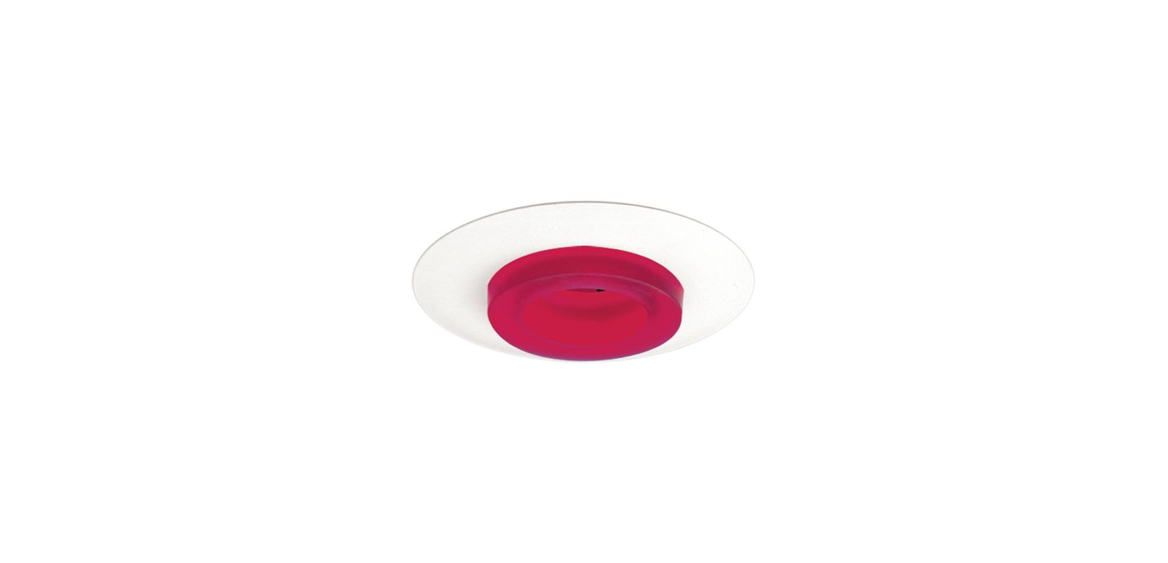 "Elco EL2552 6"" Low-Voltage Frosted Glass Trim Red Recessed Lights"