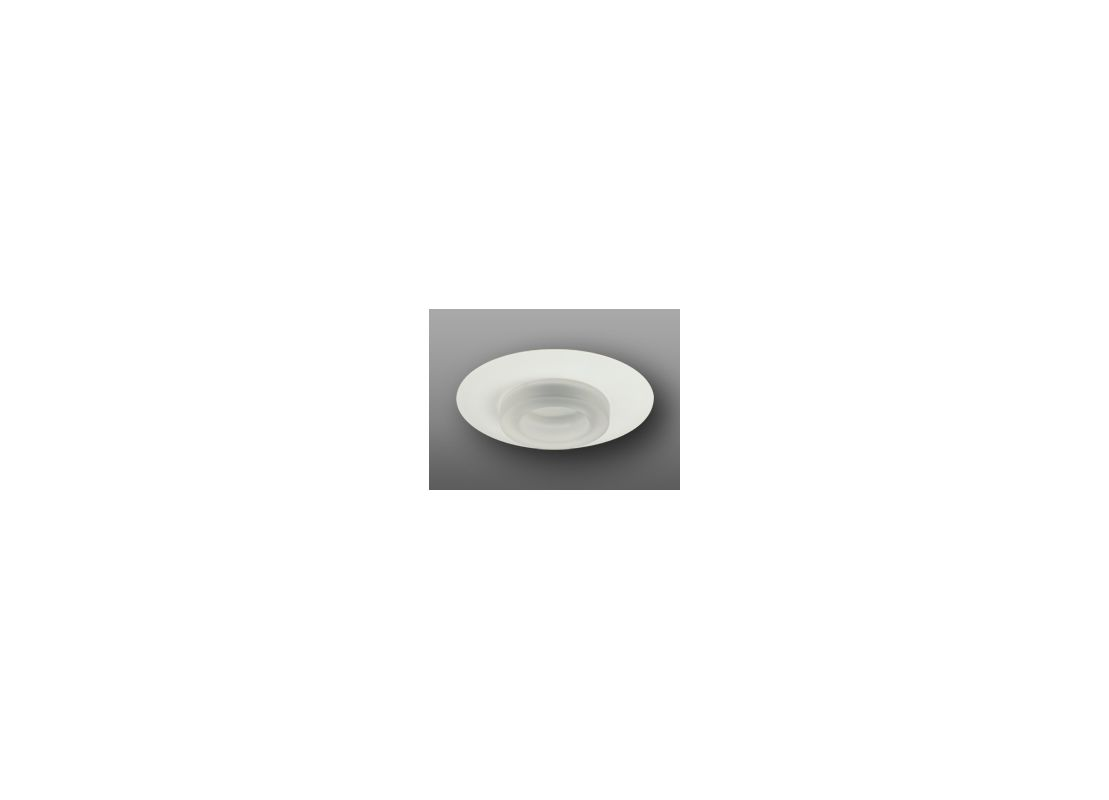 "Elco EL2552 6"" Low-Voltage Frosted Glass Trim White Recessed Lights"