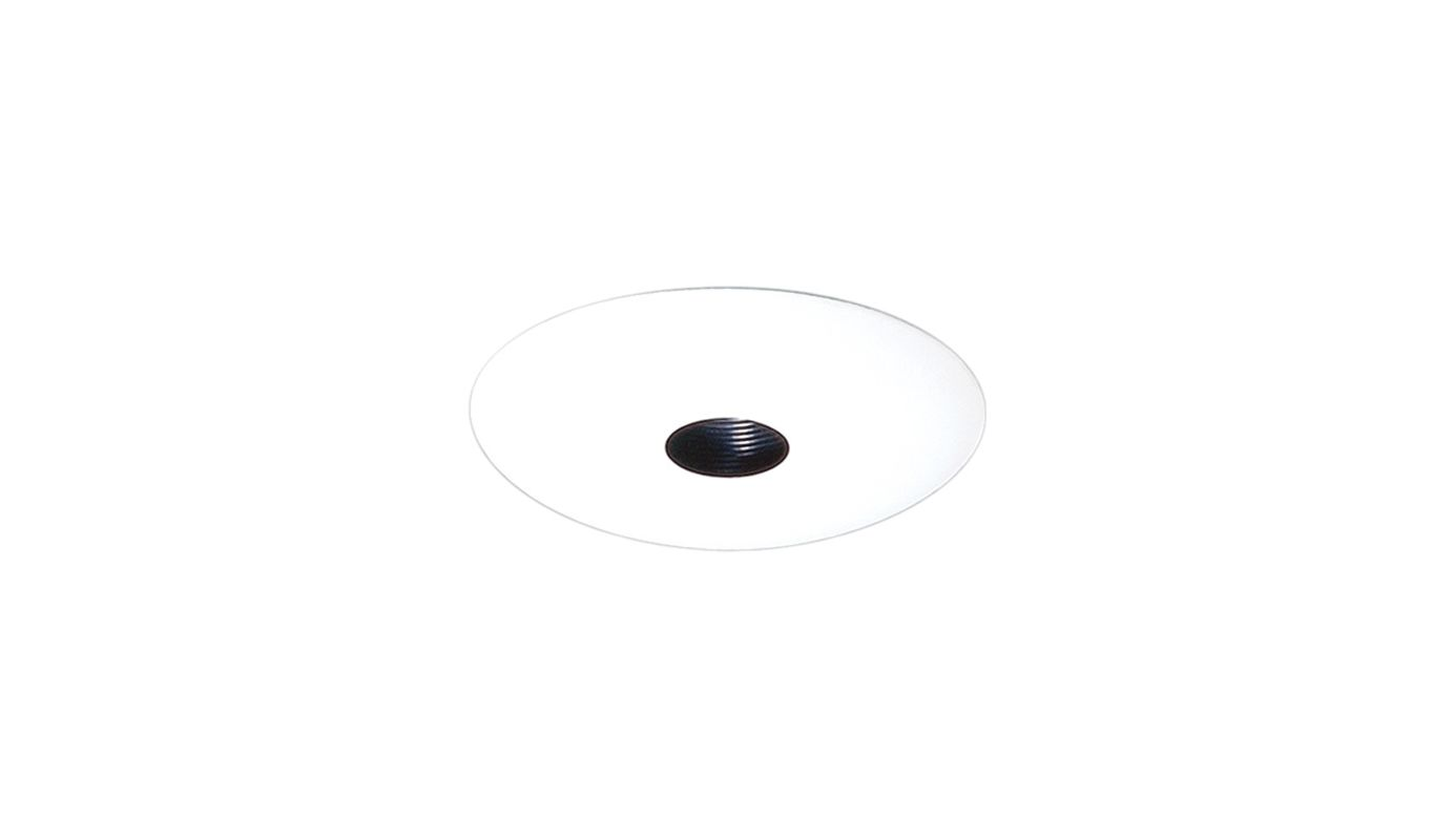 "Elco EL2579 6"" Low-Voltage Pinhole Trim with Baffle Black / White"