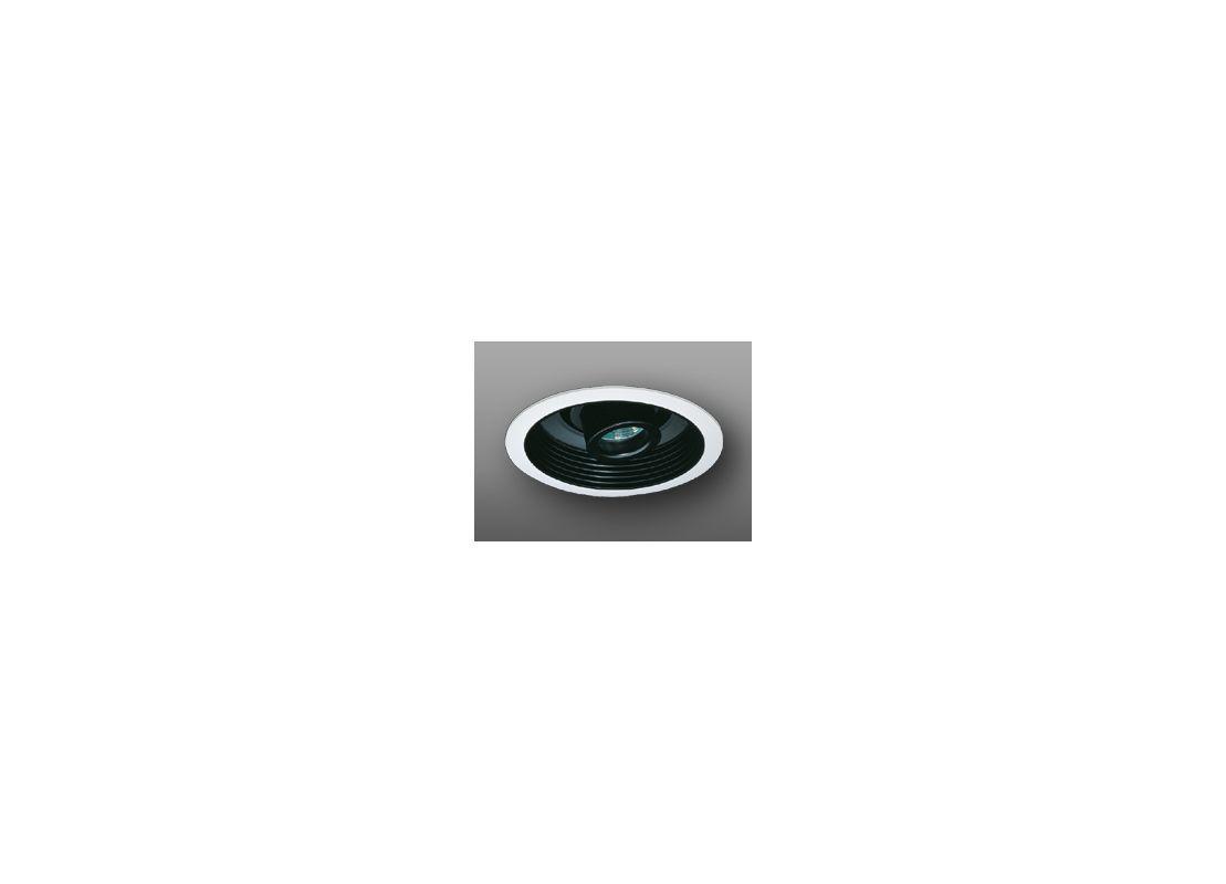 """Elco EL2588 6"""" Low-Voltage Adjustable Spot with Baffle Black / White"""