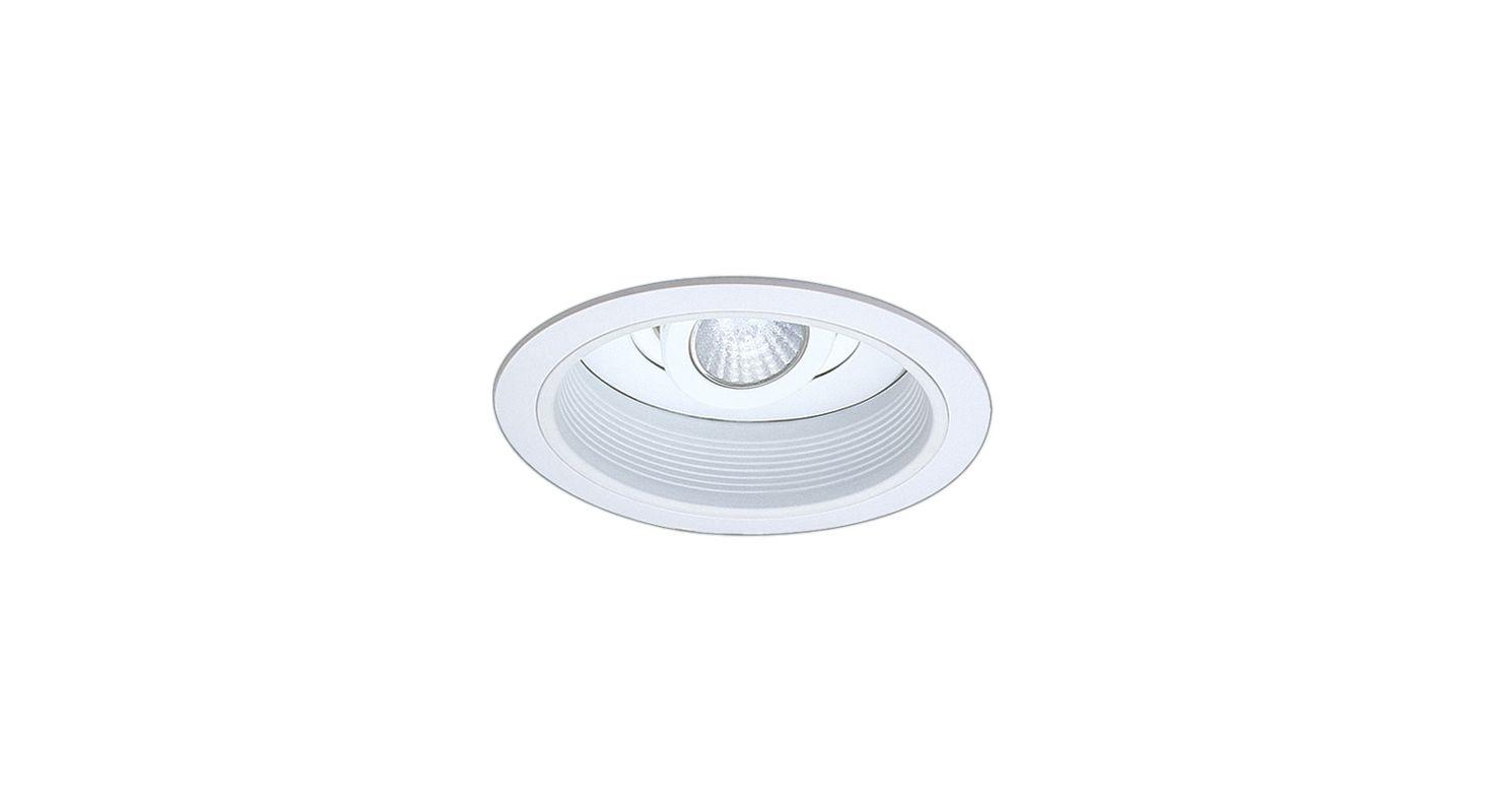 """Elco EL2588 6"""" Low-Voltage Adjustable Spot with Baffle White Recessed"""