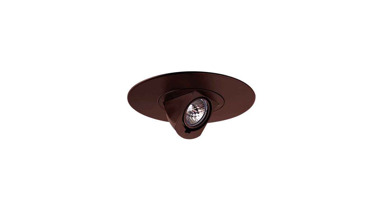 "Elco EL2597 6"" Low-Voltage Adjustable Pull-Down Trim Bronze Recessed"