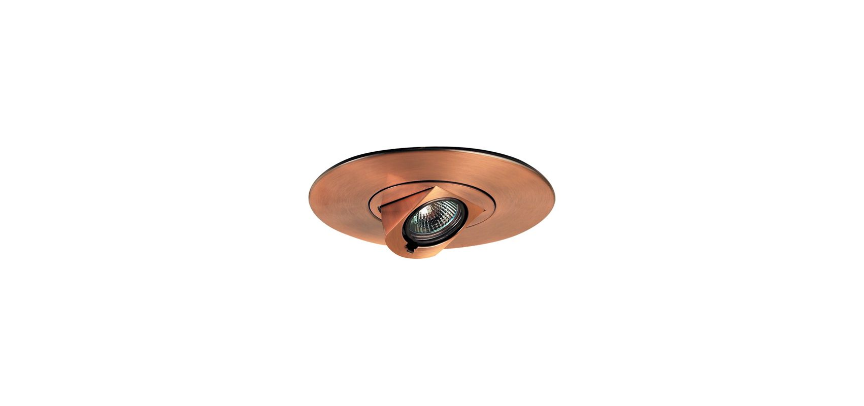 "Elco EL2597 6"" Low-Voltage Adjustable Pull-Down Trim Copper Recessed"