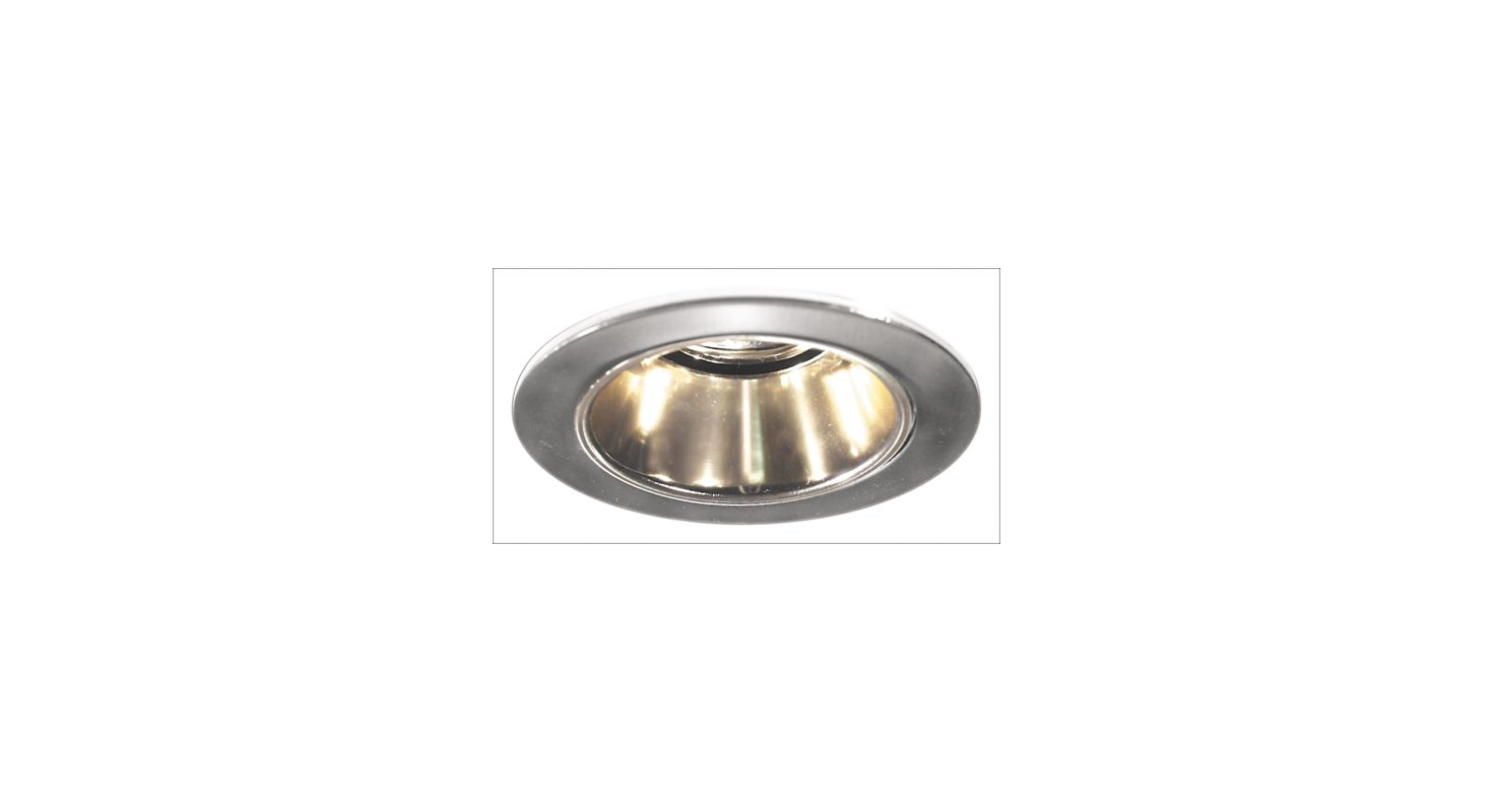 "Elco EL2621 3"" Diecast Adjustable Reflector Gold / Nickel Recessed"