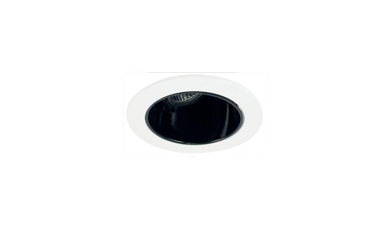 """Elco EL2622 3"""" Diecast Adjustable Wall Wash Reflector Black / White"""