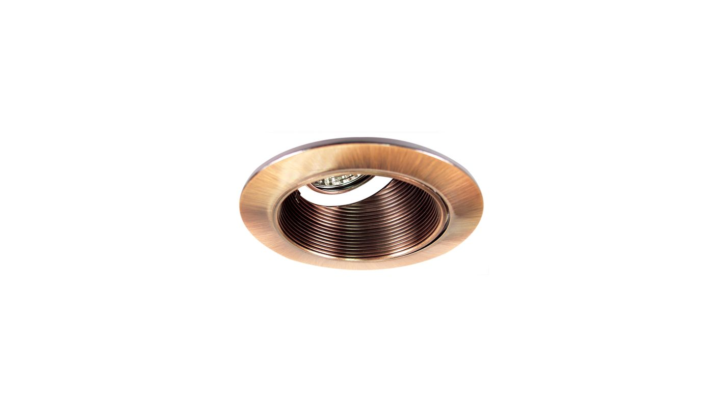 "Elco EL2624 3"" Diecast Adjustable Wall Wash Baffle Copper Recessed"