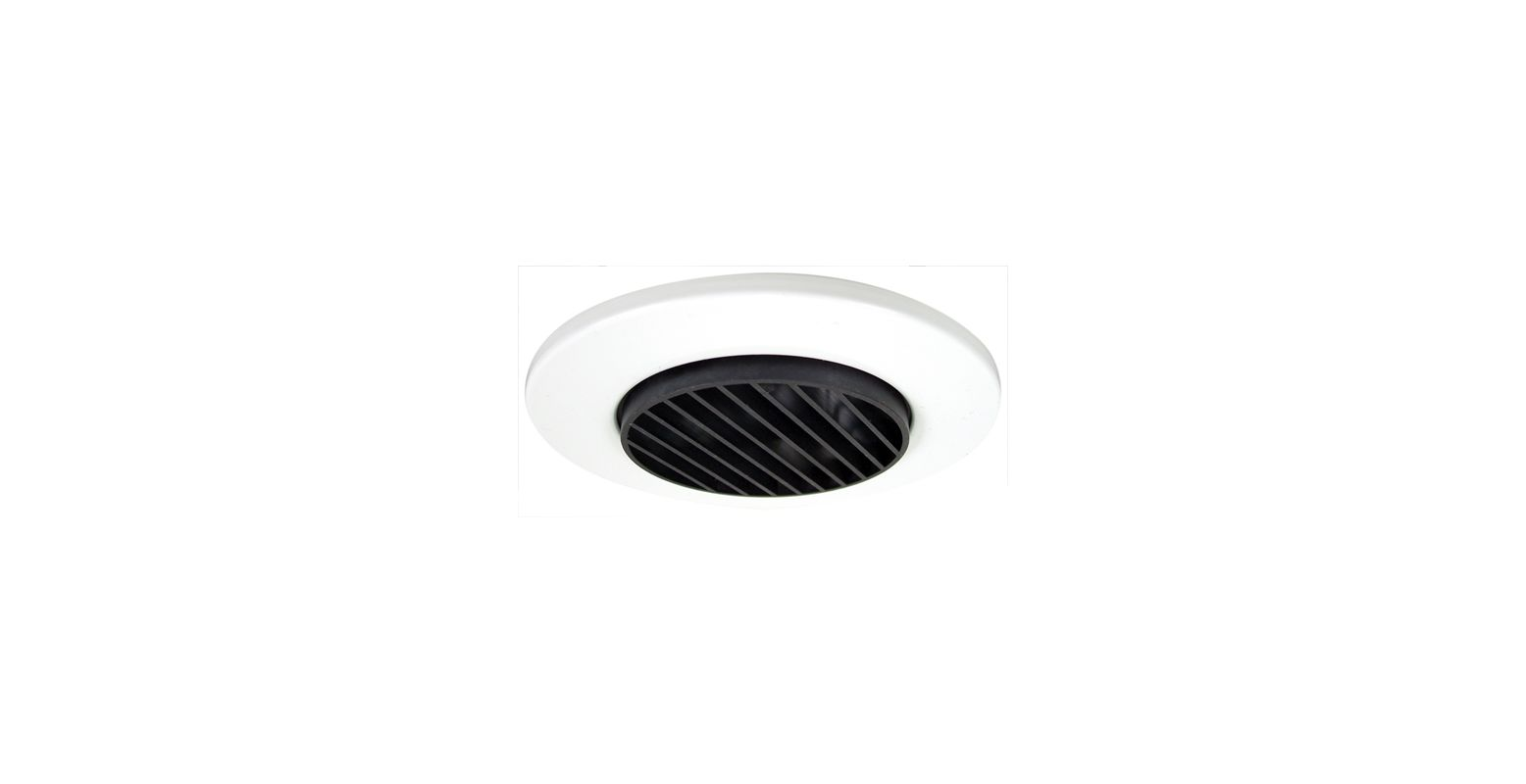 "Elco EL2633 3"" Diecast Louvered Trim Black / White Recessed Lights"