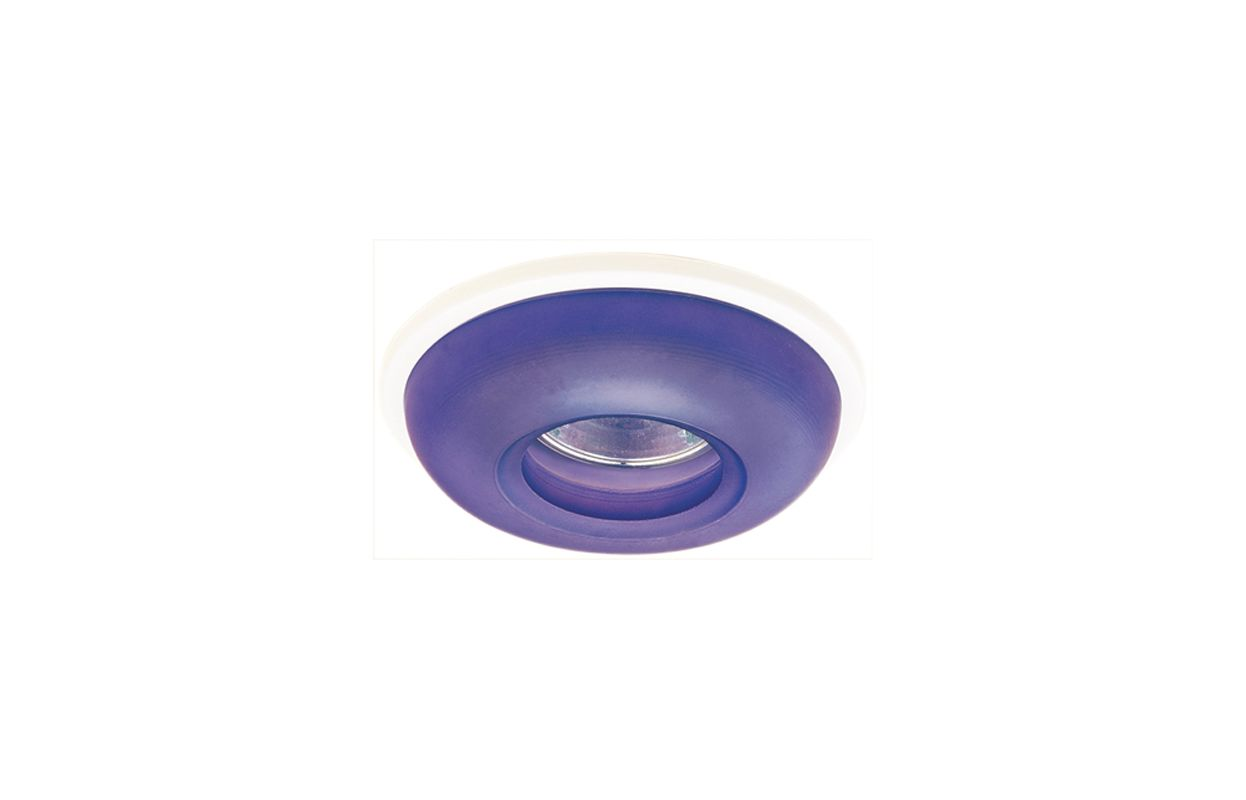 "Elco EL2652 3"" Diecast Round Frosted Glass Trim Blue Recessed Lights"