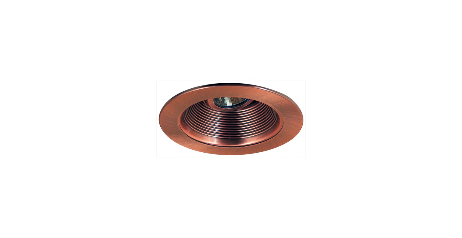 "Elco EL2693 3"" Diecast Adjustable Baffle Trim Copper Recessed Lights"