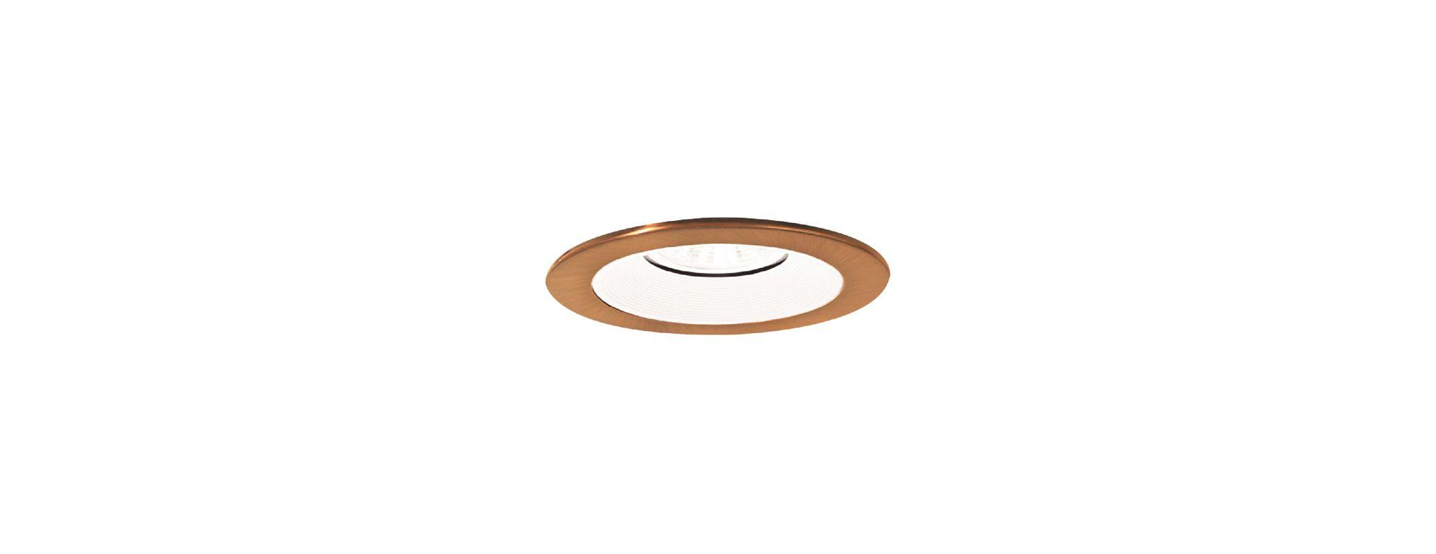 Elco EL2693 3&quote Diecast Adjustable Baffle Trim White / Copper Recessed