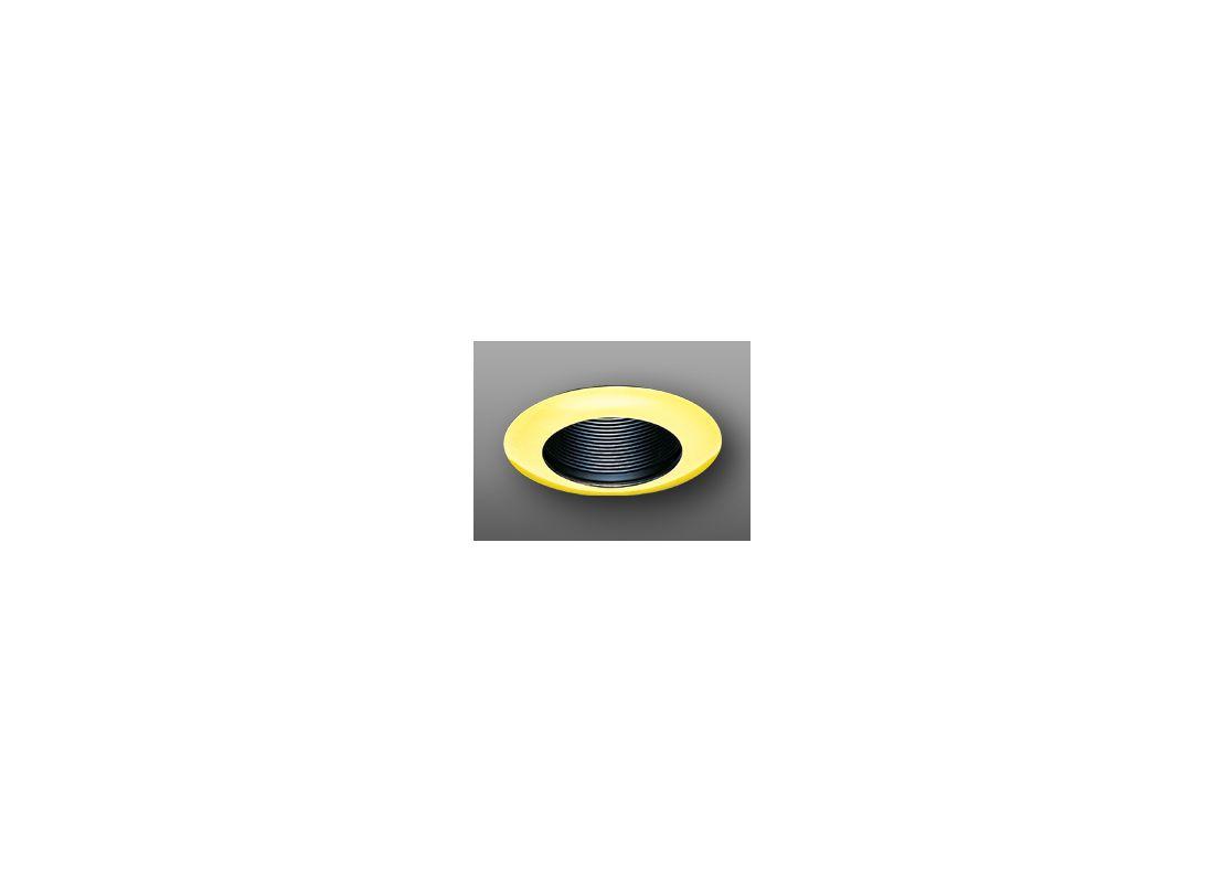 """Elco EL304 6"""" Wide Flanged Baffle Trim Black / Gold Recessed Lights"""
