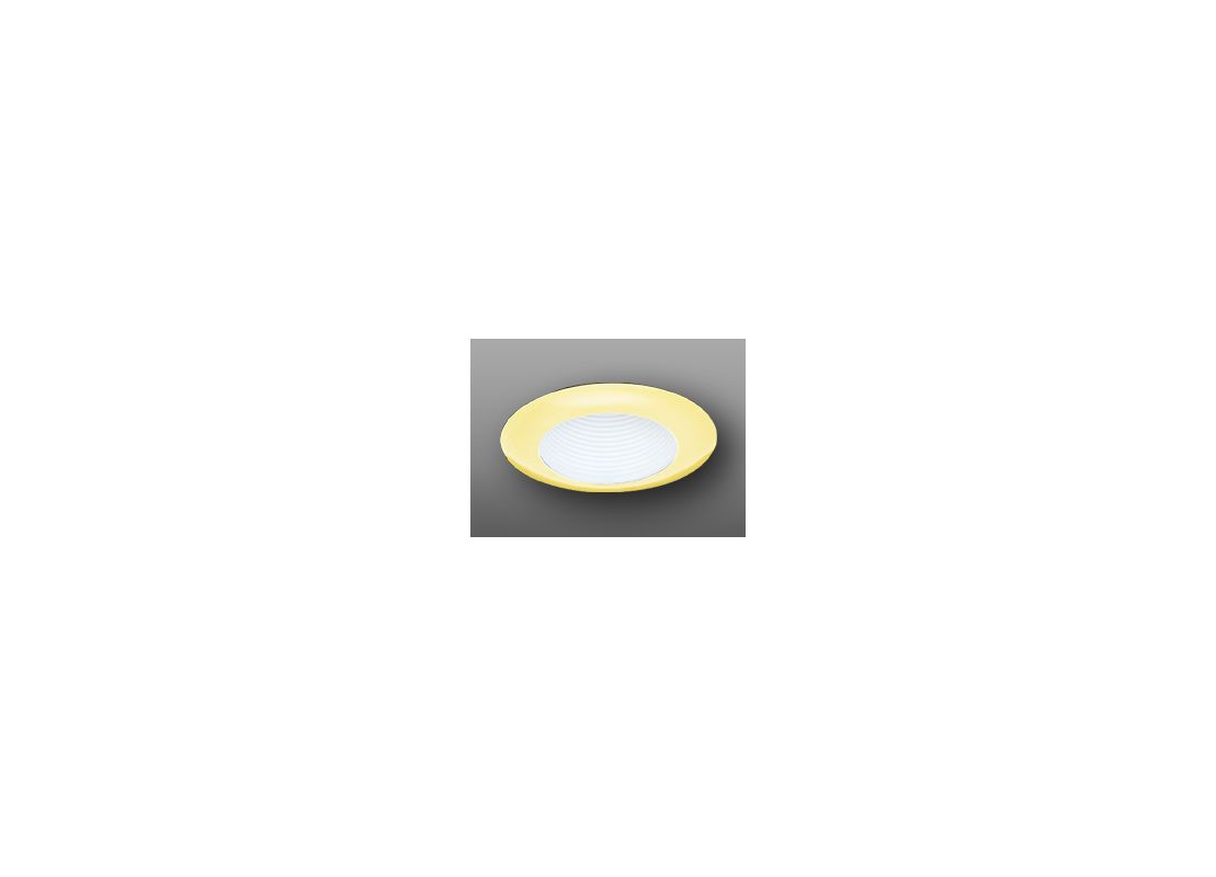 """Elco EL304 6"""" Wide Flanged Baffle Trim White / Gold Recessed Lights"""