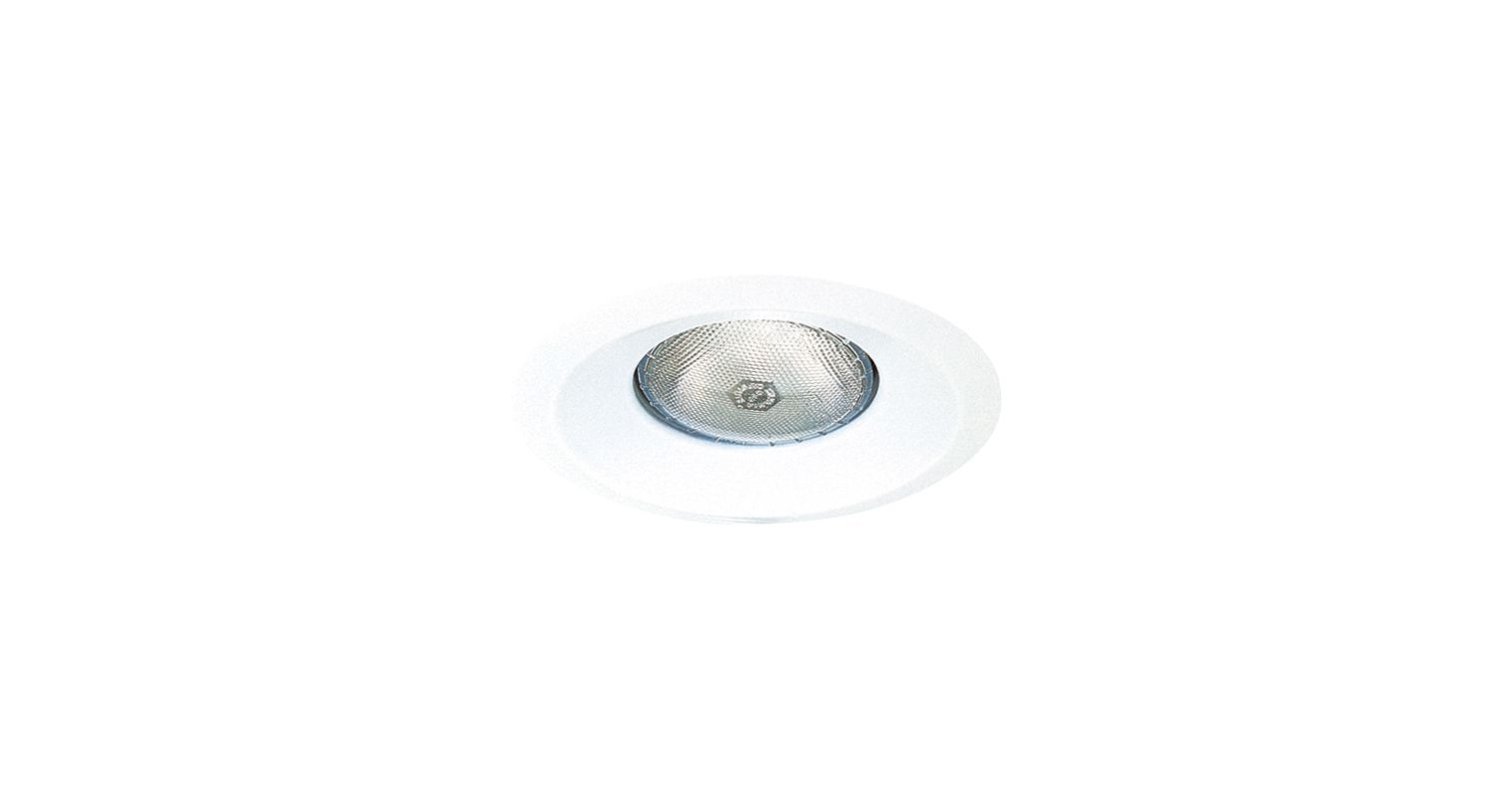 """Elco EL308W 6"""" White Open Splay for 75W Bulbs White Recessed Lights"""