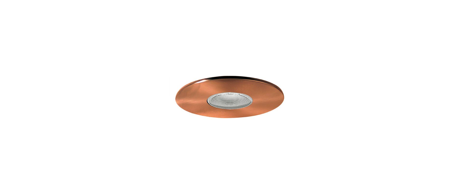 "Elco EL30 6"" Open Trim for 75W Bulbs Copper Recessed Lights Shower"