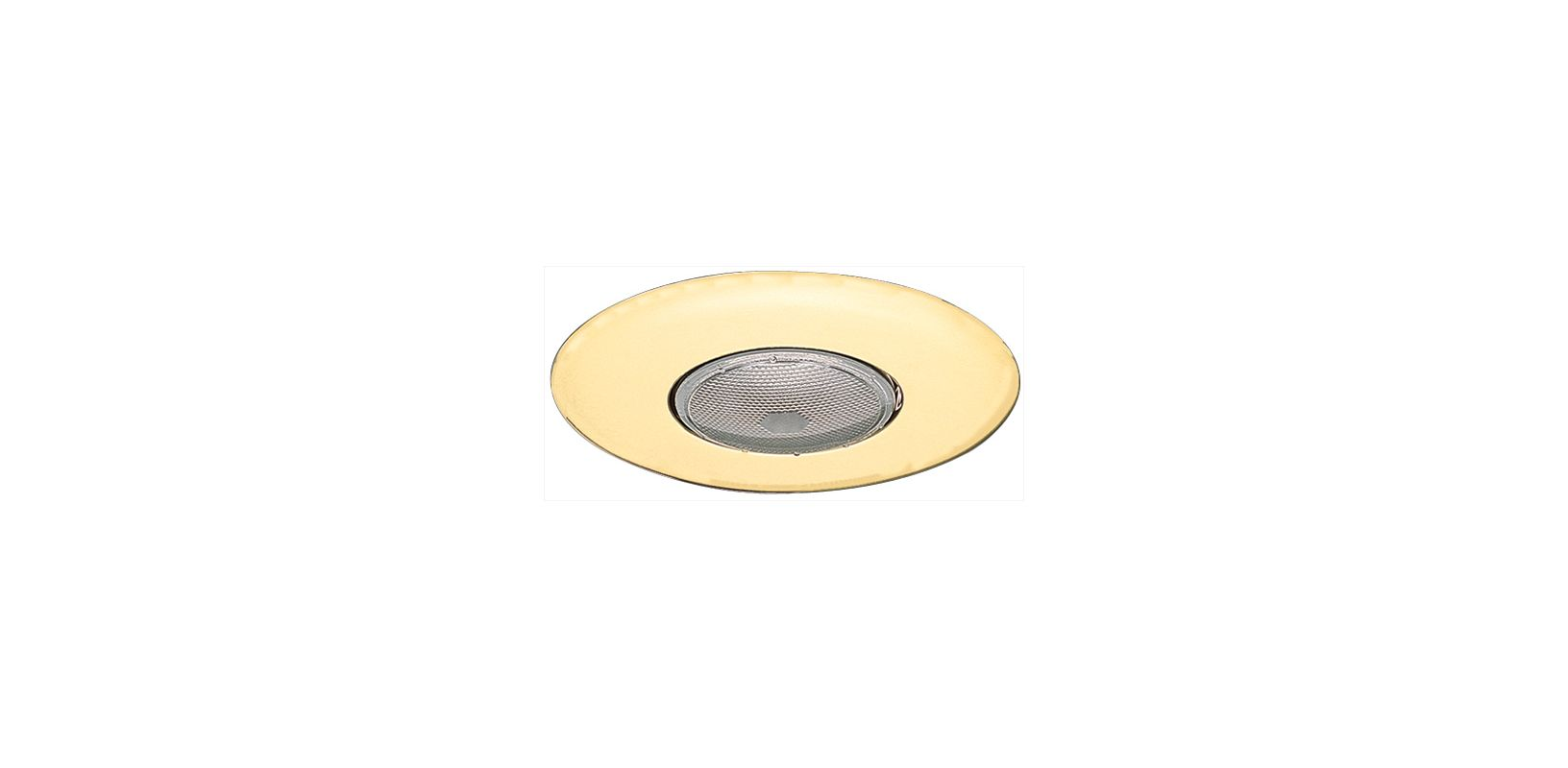 "Elco EL30 6"" Open Trim for 75W Bulbs Gold Recessed Lights Shower Trims"