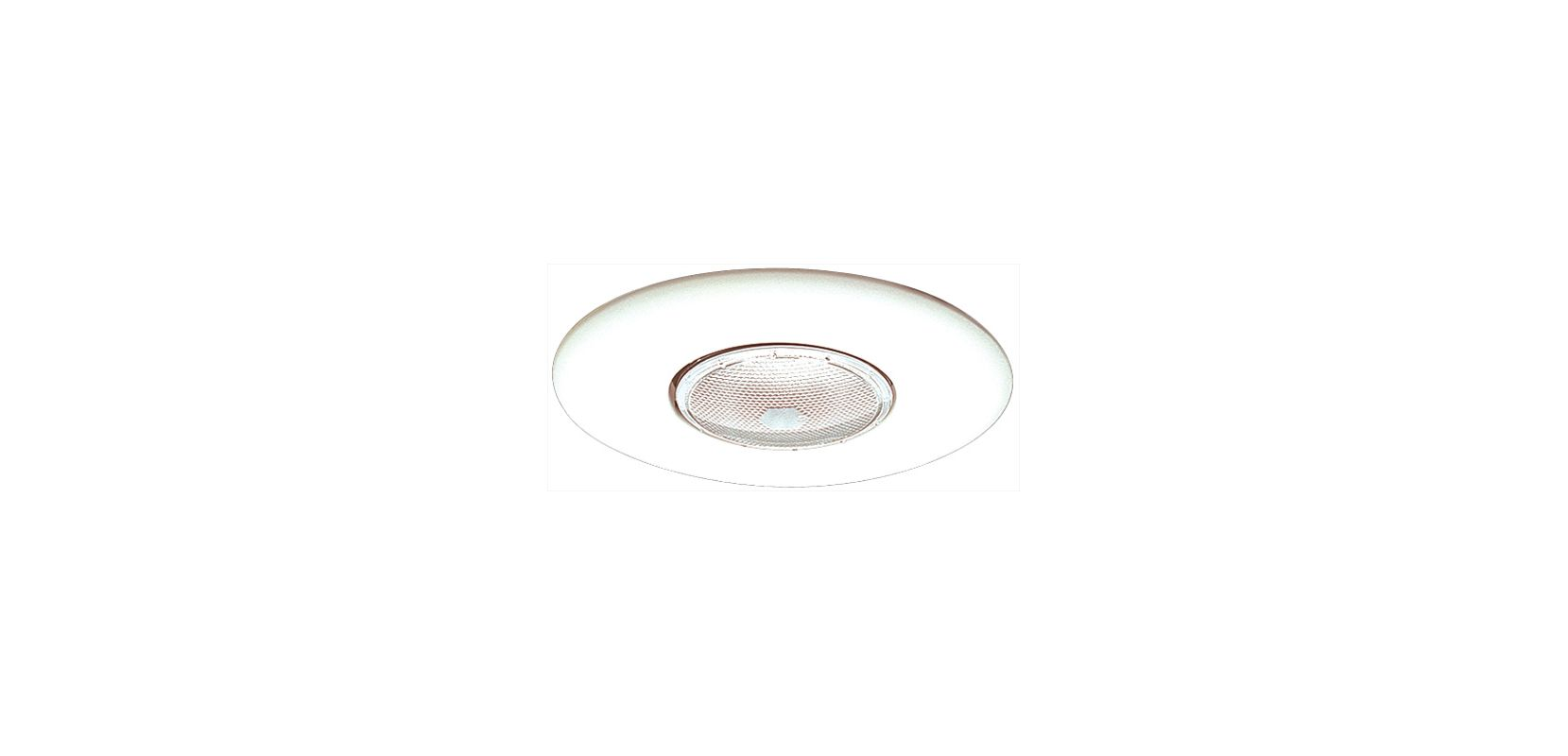 "Elco EL30 6"" Open Trim for 75W Bulbs White Recessed Lights Shower"
