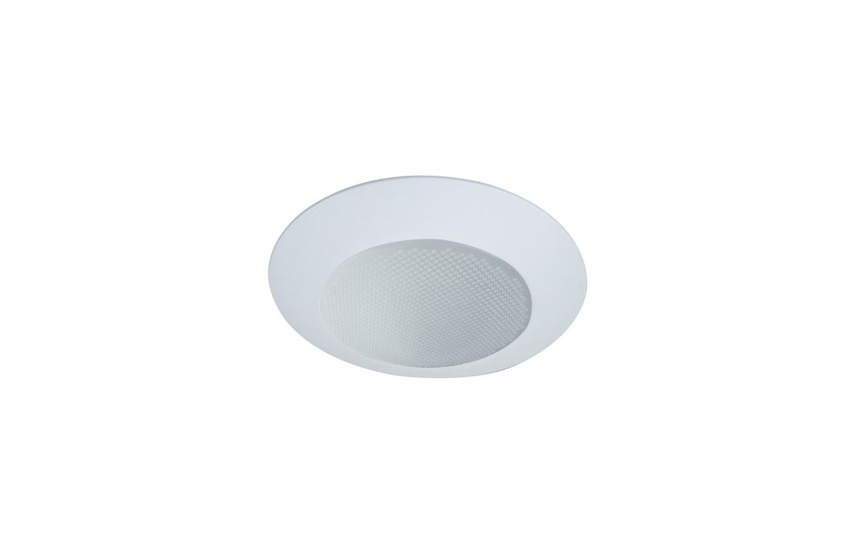 "Elco EL312SH 6"" White Lexan Shower Trim with Albalite Lens and Cone"