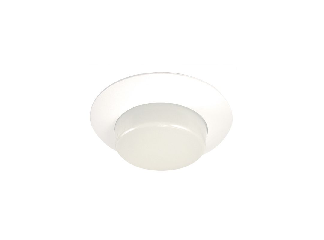 "Elco EL316SH 6"" White Lexan Shower Trim with Deep Opal Lens and Cone"