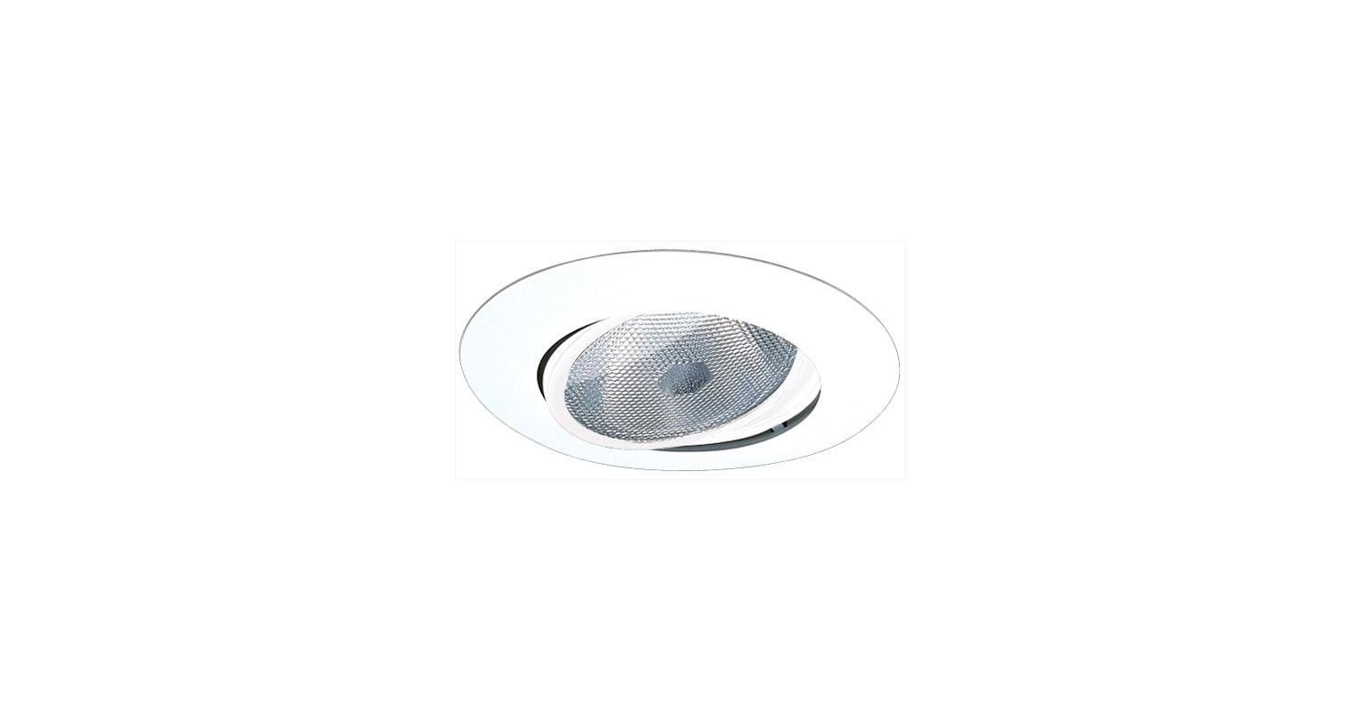 "Elco EL318 6"" Adjustable Gimbal Ring for 150W Bulbs White Recessed"