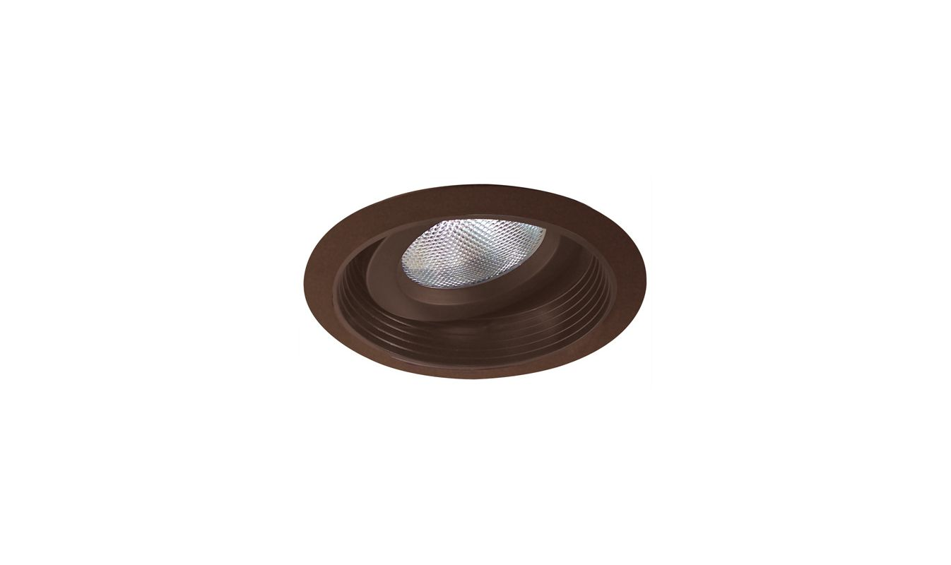 "Elco EL376 6"" Regressed Gimbal Ring with Baffle Bronze Recessed Lights"