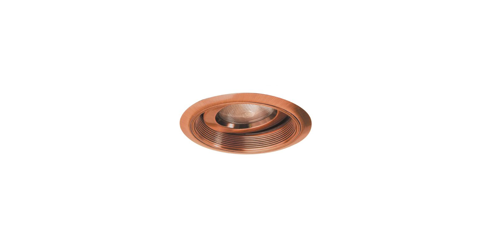 "Elco EL376 6"" Regressed Gimbal Ring with Baffle Copper Recessed Lights"