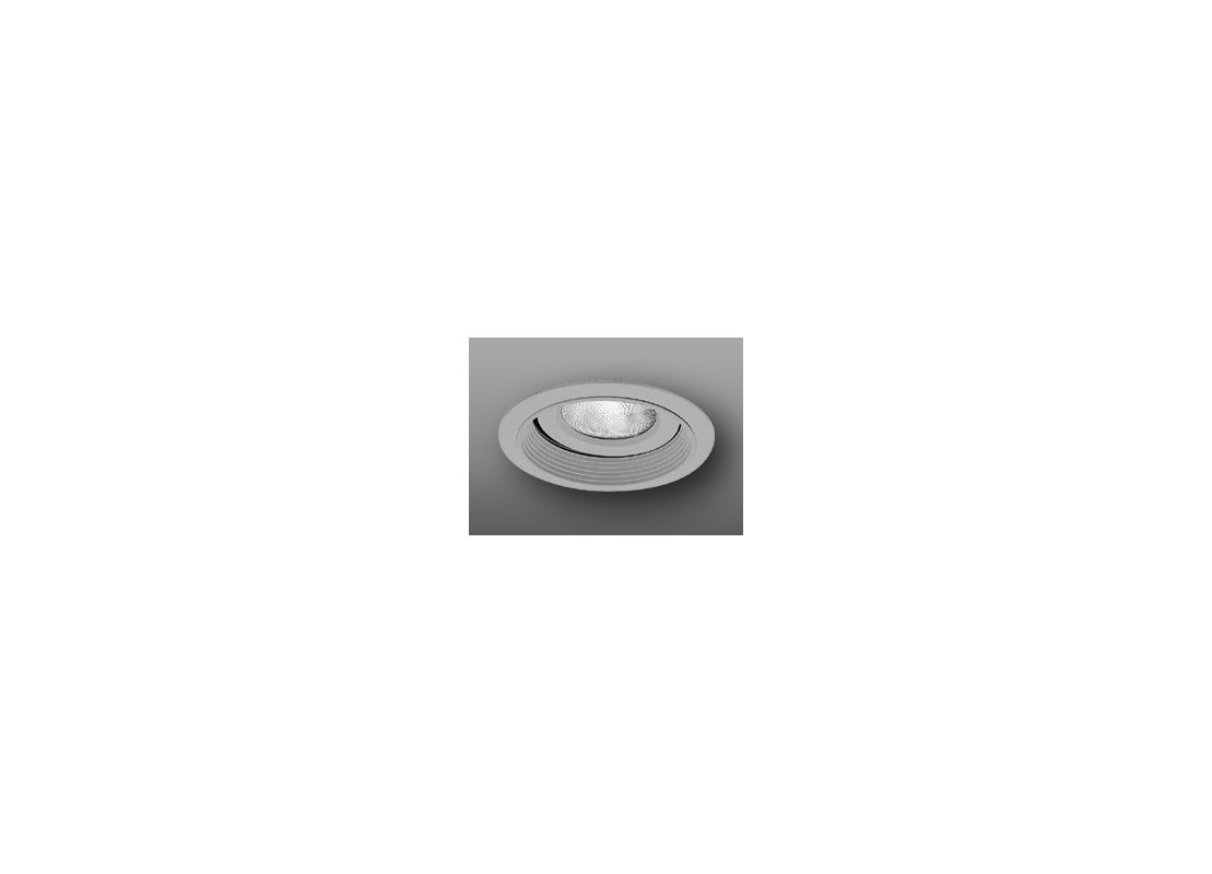 "Elco EL376 6"" Regressed Gimbal Ring with Baffle Nickel Recessed Lights"