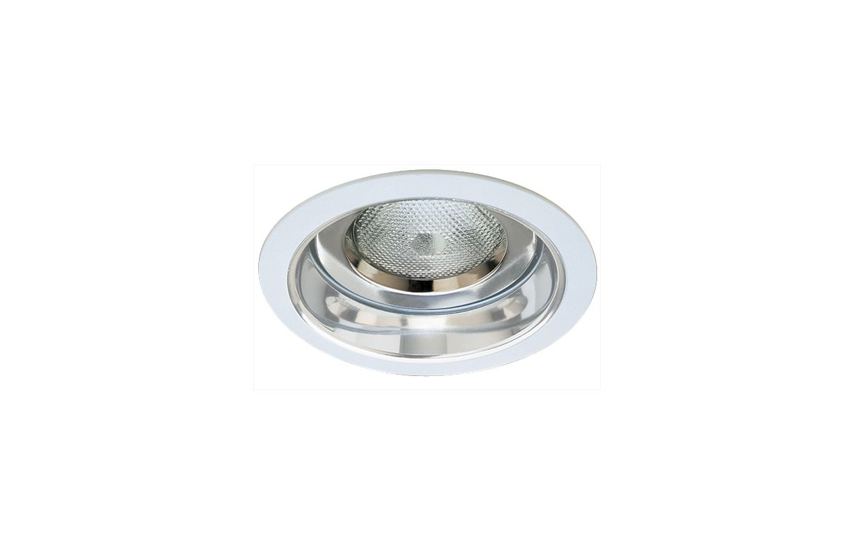 "Elco EL377 6"" Regressed Gimbal Ring with Reflector Clear / White"