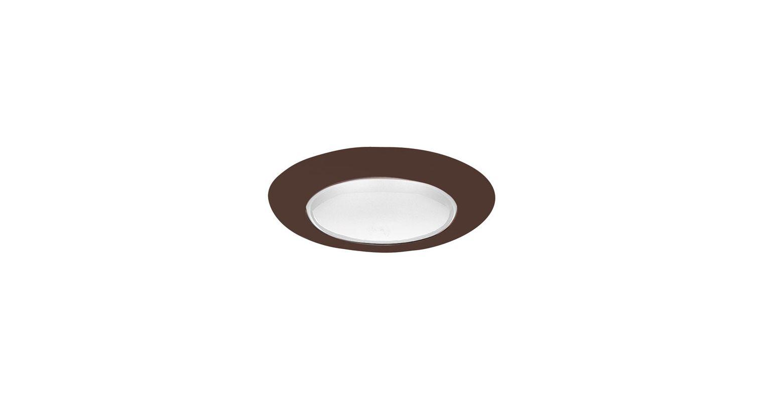 """Elco EL40 6"""" Open Trim for 150W Bulbs Bronze Recessed Lights Shower"""