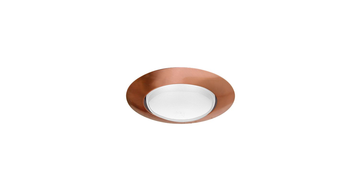 Elco EL40 6&quote Open Trim for 150W Bulbs Copper Recessed Lights Shower