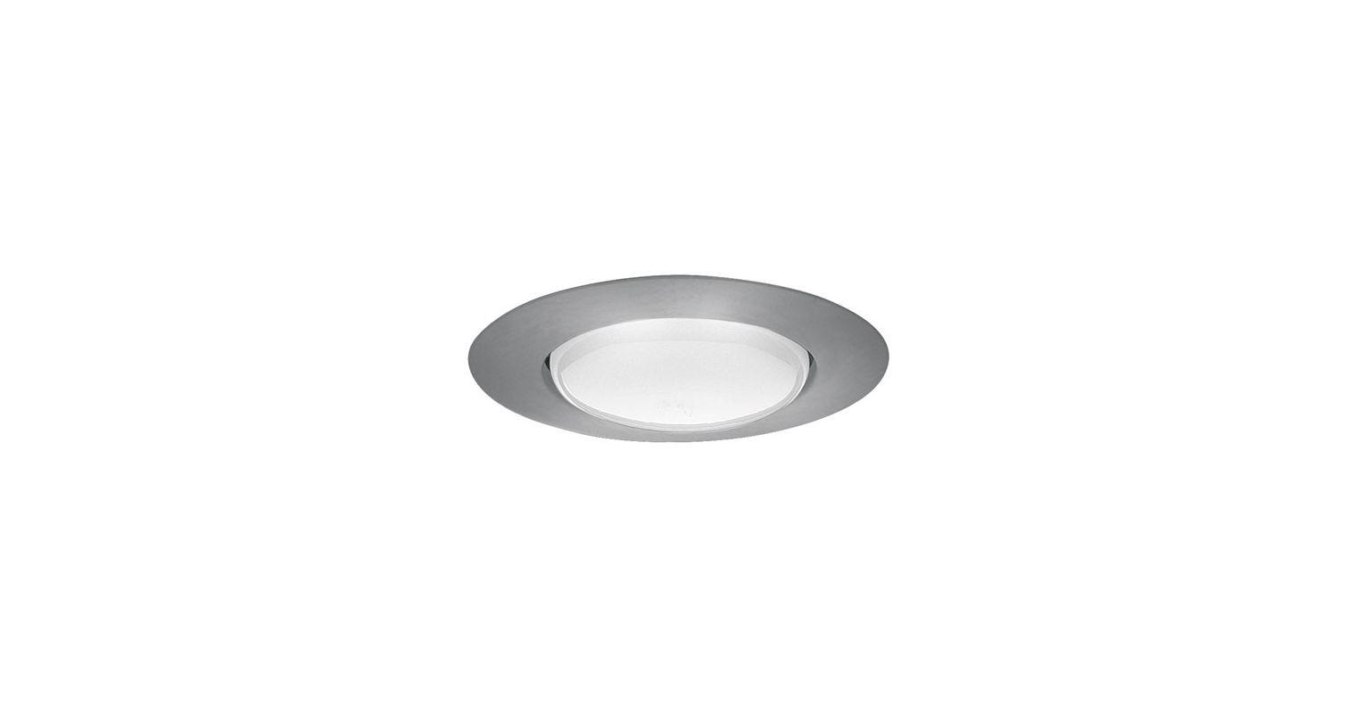 "Elco EL40 6"" Open Trim for 150W Bulbs Nickel Recessed Lights Shower"