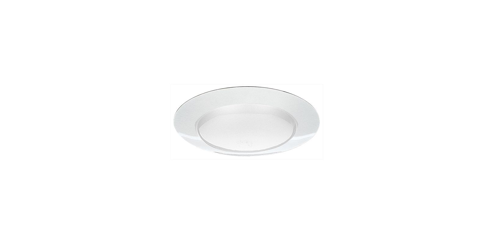 "Elco EL40 6"" Open Trim for 150W Bulbs White Recessed Lights Shower"