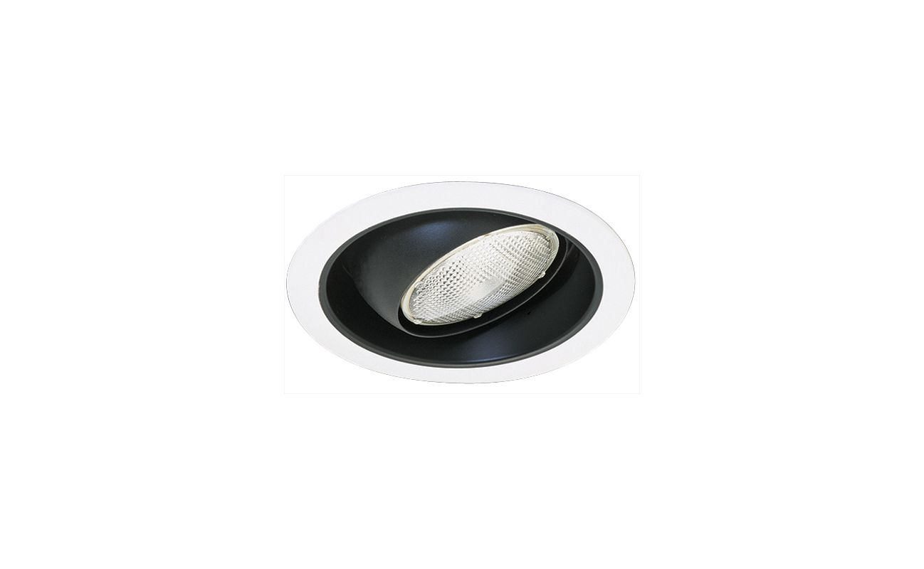 """Elco EL419 6"""" Reflector with Regressed Eyeball and White Ring Black /"""