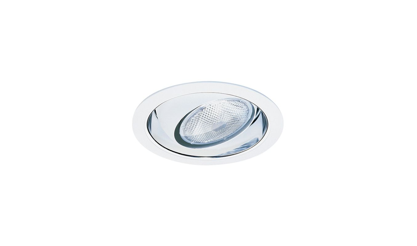 "Elco EL419 6"" Reflector with Regressed Eyeball and White Ring Clear /"