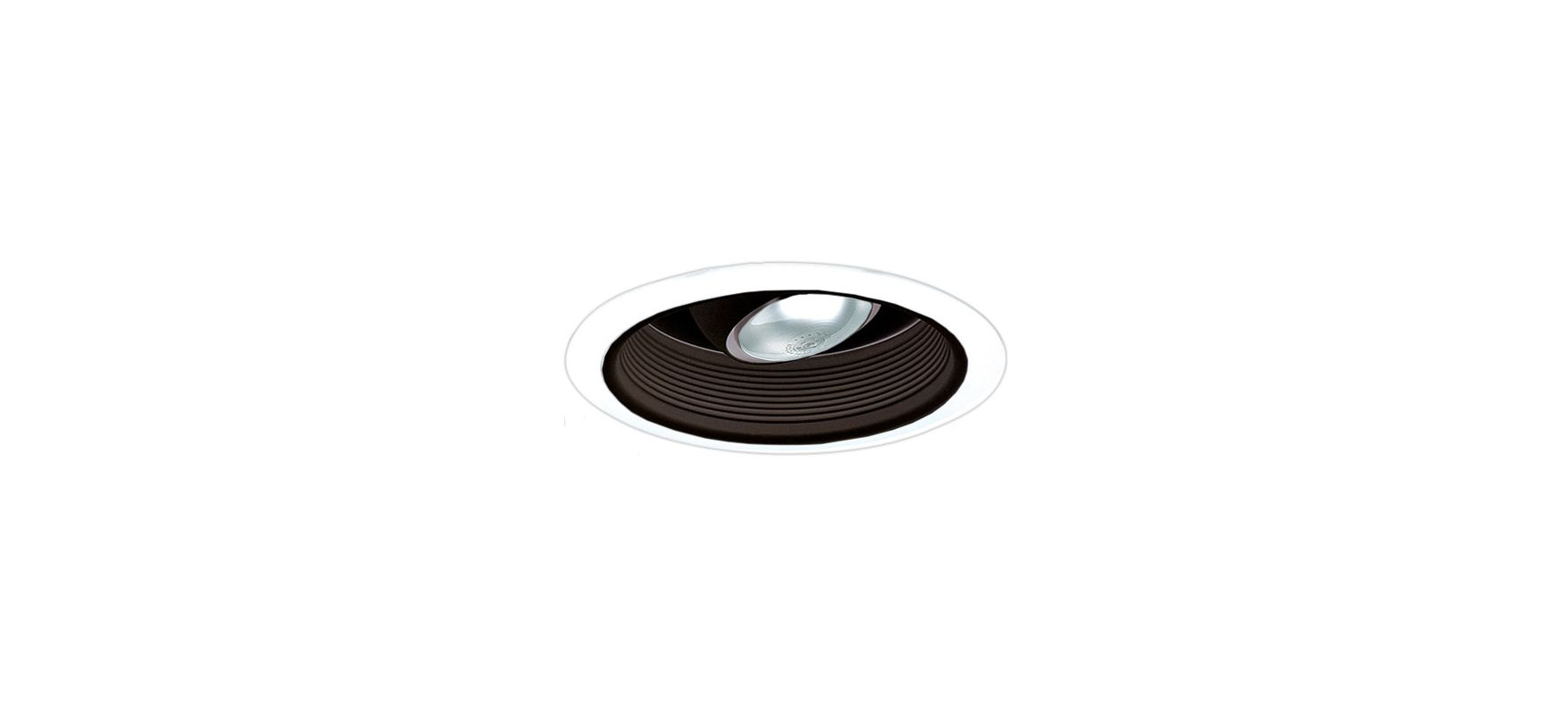 "Elco EL508 6"" Regressed Baffle Trim with Regressed Eyeball Black /"