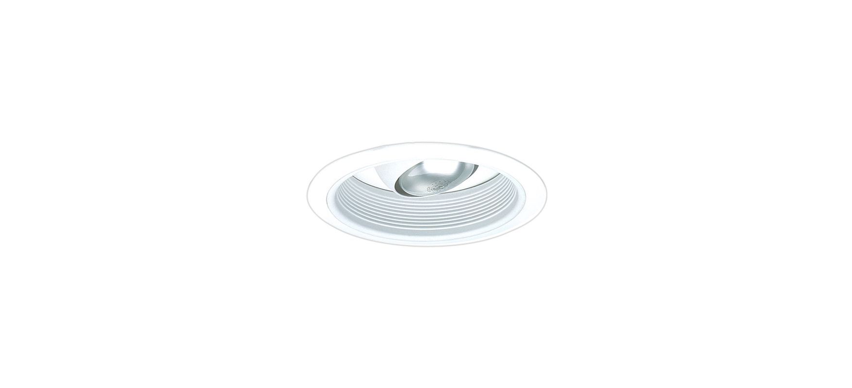 "Elco EL508 6"" Regressed Baffle Trim with Regressed Eyeball White"