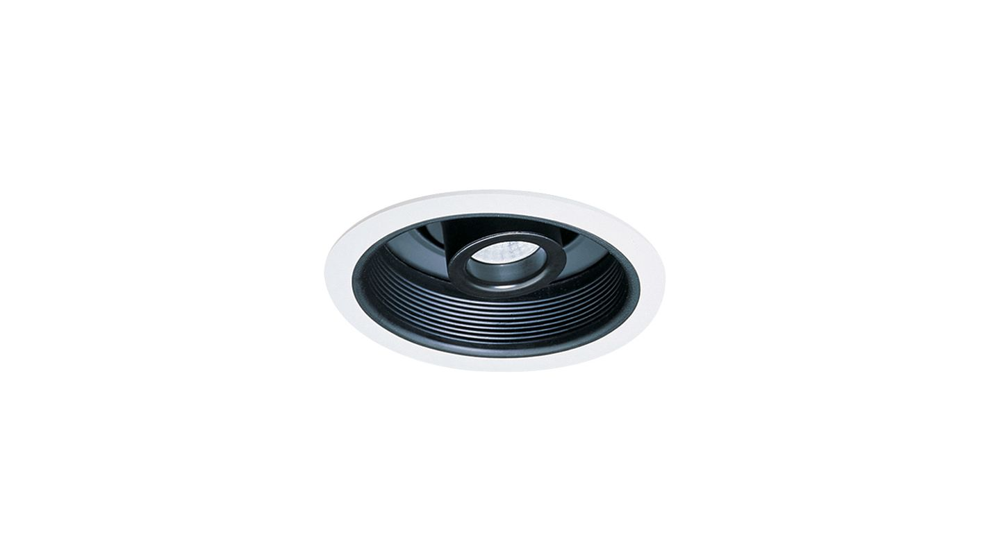 "Elco EL510 6"" Adjustable Spot Trim with Baffle Black / White Recessed"