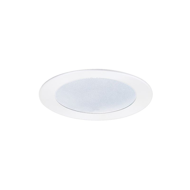 "Elco EL5122W 5"" Shower Trim with Frosted Lens and Reflector White"