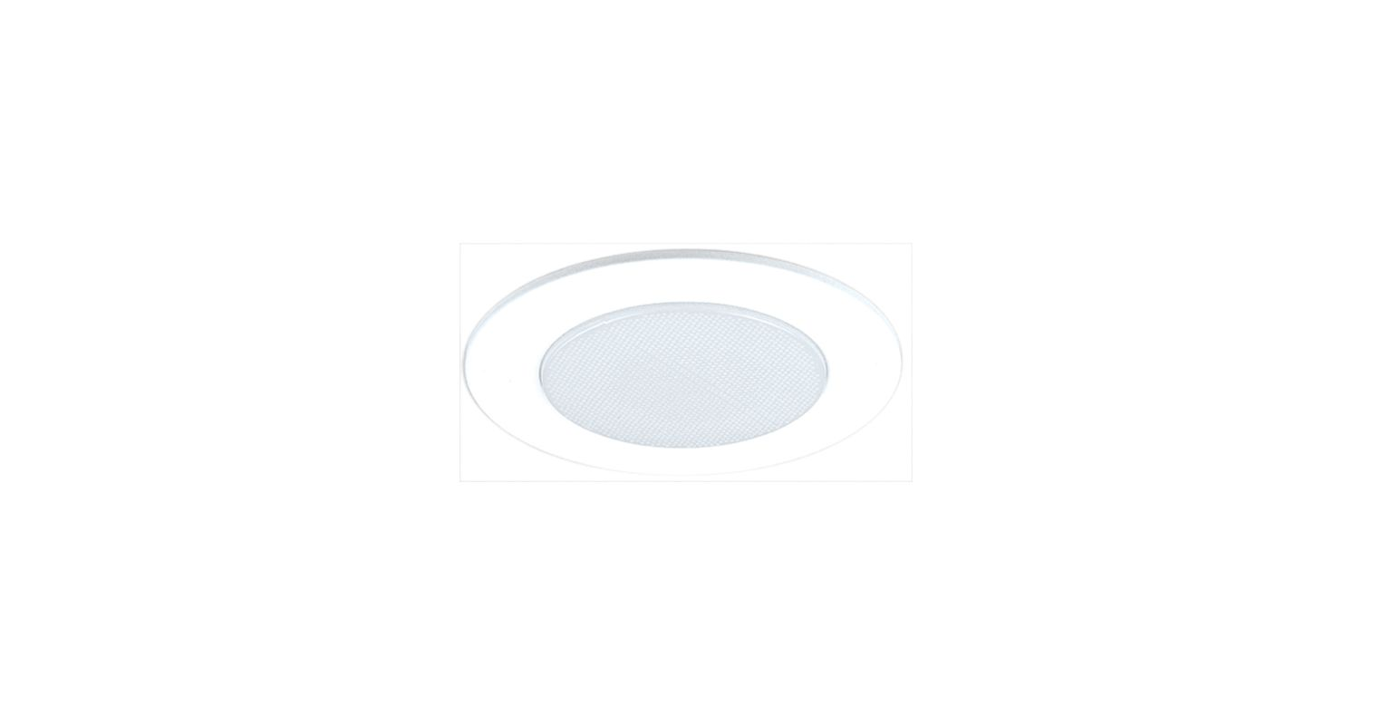 "Elco EL512KSH 5"" White Lexan Shower Trim with Albalite Lens and Socket"