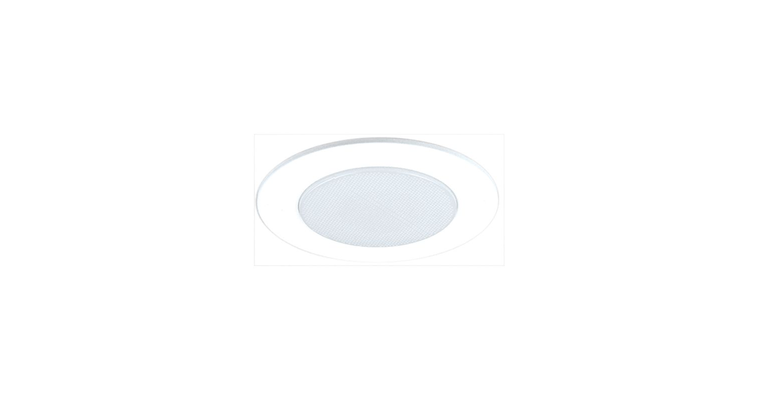 "Elco EL512SH 5"" White Lexan Shower Trim with Albalite Lens White"