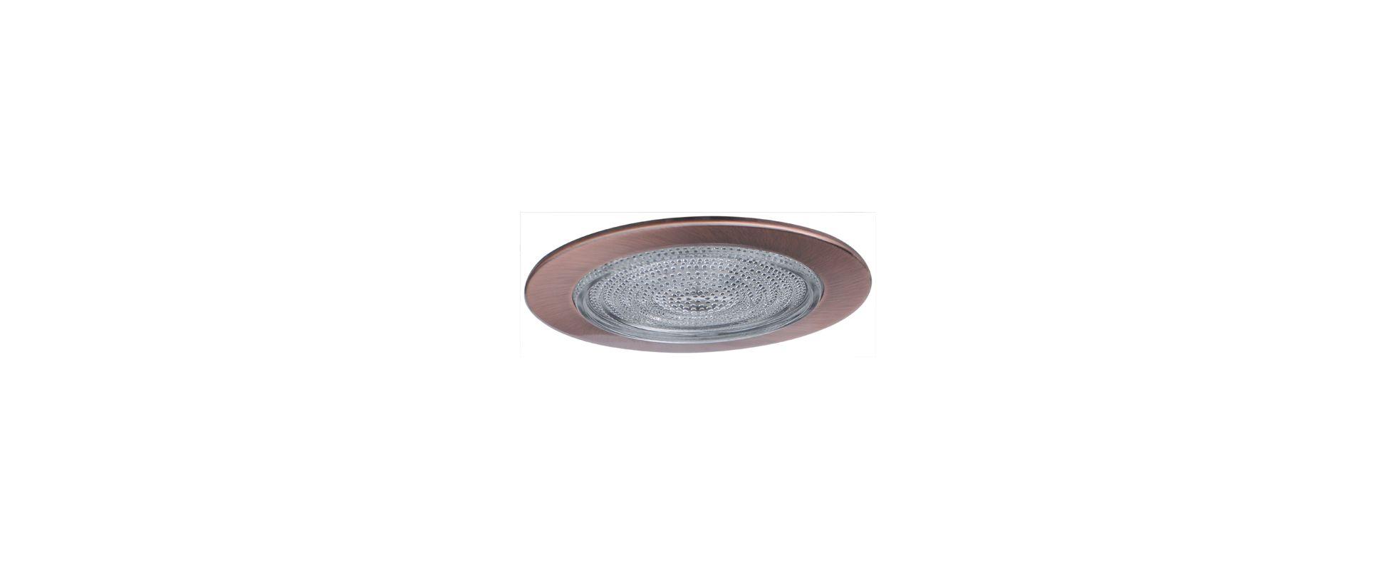 "Elco EL513 5"" Shower Trim with Fresnel Lens Copper Recessed Lights"