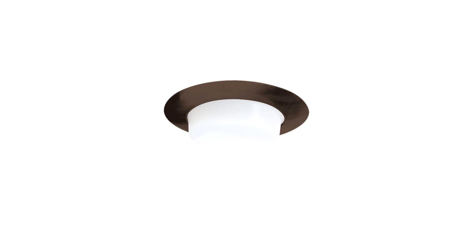 "Elco EL516 5"" Shower Trim with Drop Opal Lens Bronze Recessed Lights"