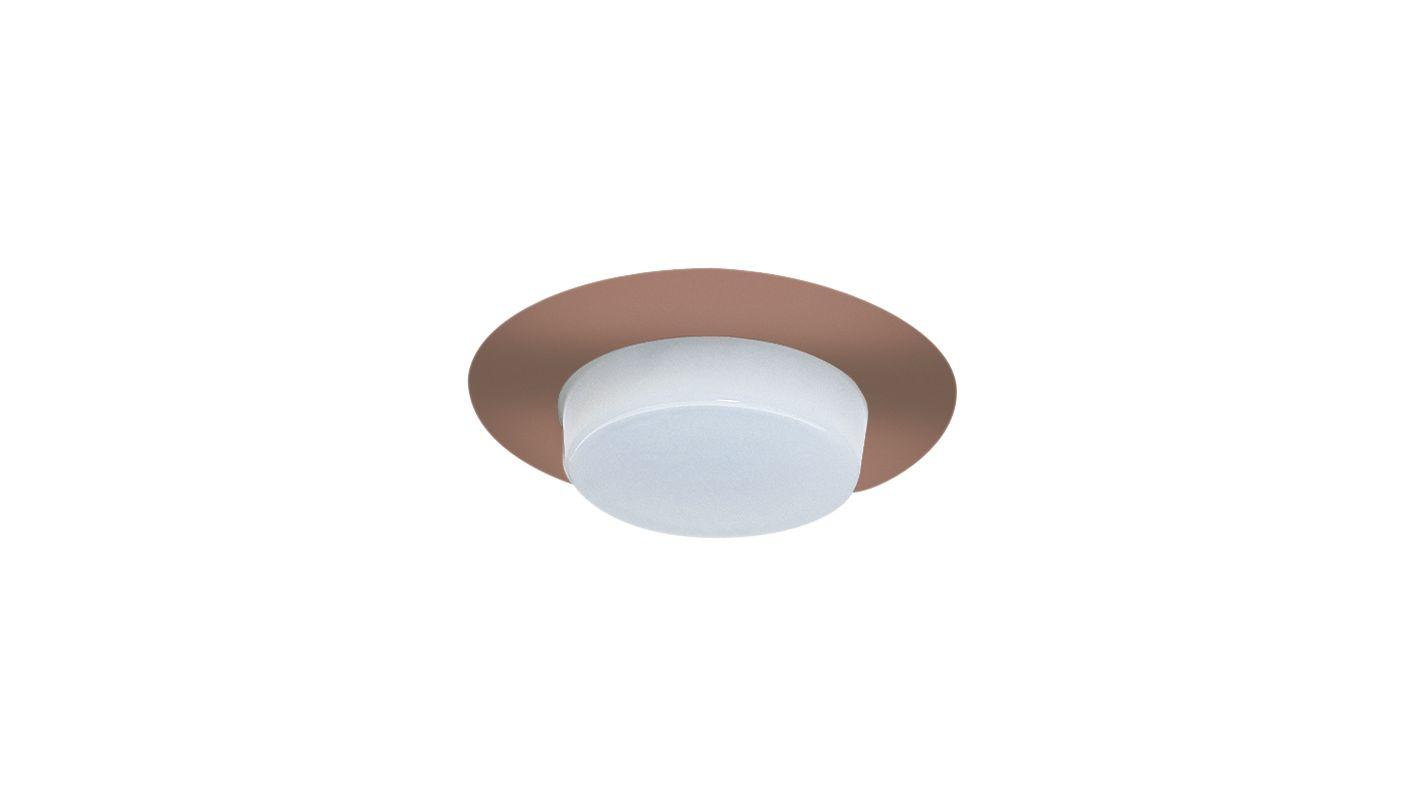"Elco EL516 5"" Shower Trim with Drop Opal Lens Copper Recessed Lights"